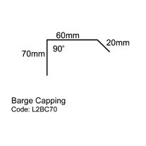 Line drawing of small Barge Capping