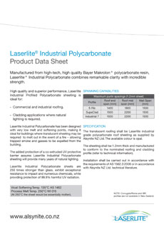 Download the Laserlite Industrial Polycarbonate installation guide
