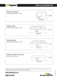 Download TopGlass Popular Profiles Brochure