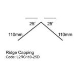 ine drawing Ridge Capping 25°