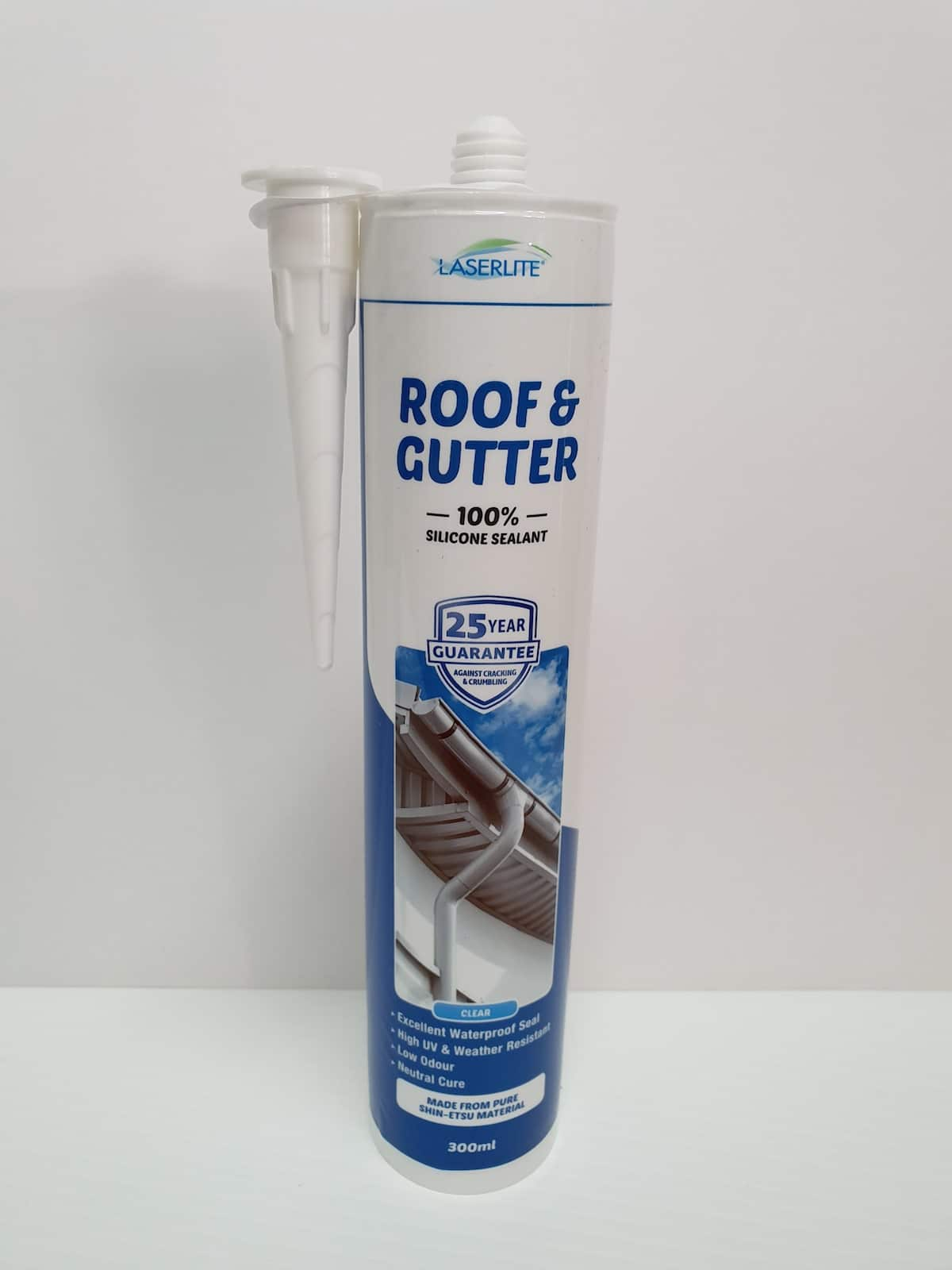 Laserlite Roof And Gutter 100 Silicone Sealant Supreme