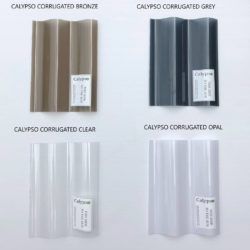 Supreme Plastic Roofing - Calypso Corrugated Polycarbonate Bronze, Grey, Clear & Opal